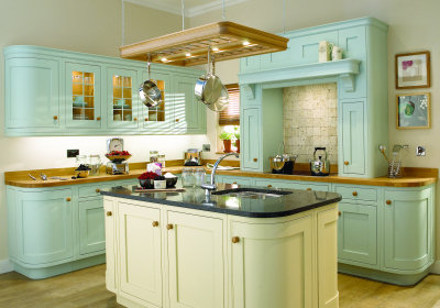 Add a pop of color in your kitchen zen of zada for Kitchen cabinets zen
