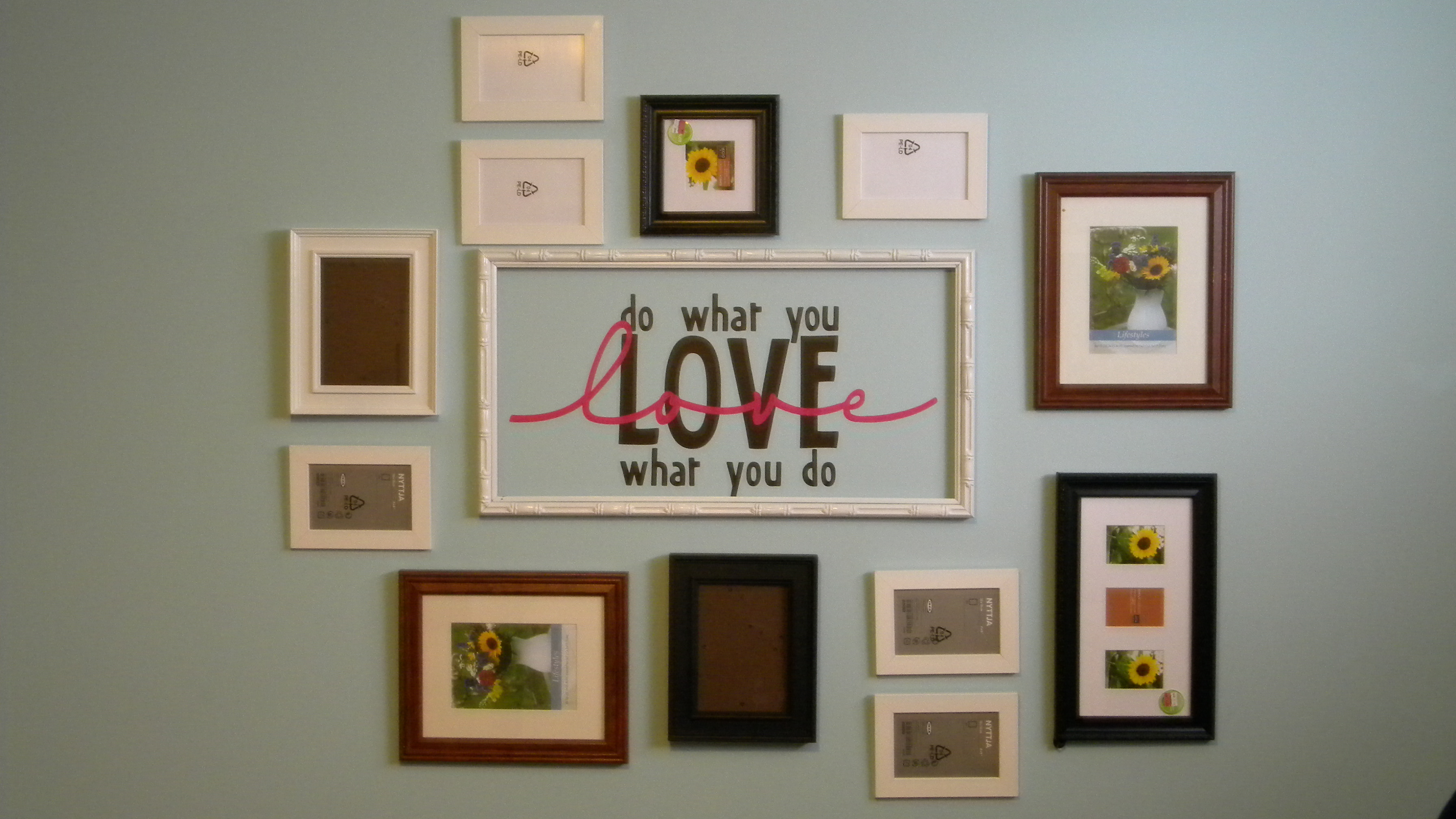 Creative picture frame hanging ideas