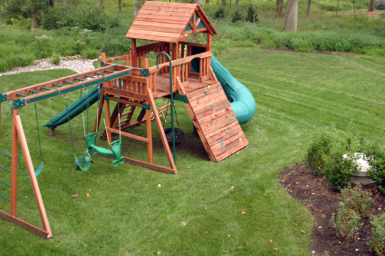 Parents With Kids Often Times Invest In A Play Structure In The Back Yard.  There Are Different Sizes And Types Of Structure And Can Vary Based On The  Age Of ...