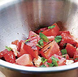 grilling watermelon salad