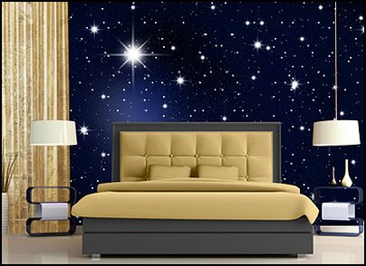 Stars Wall Murals Stars Wall Decals Moon Stars Bedroom Wall  Decorations Celestial Bedrooms