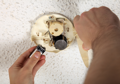 replace batteries in smoke detectors