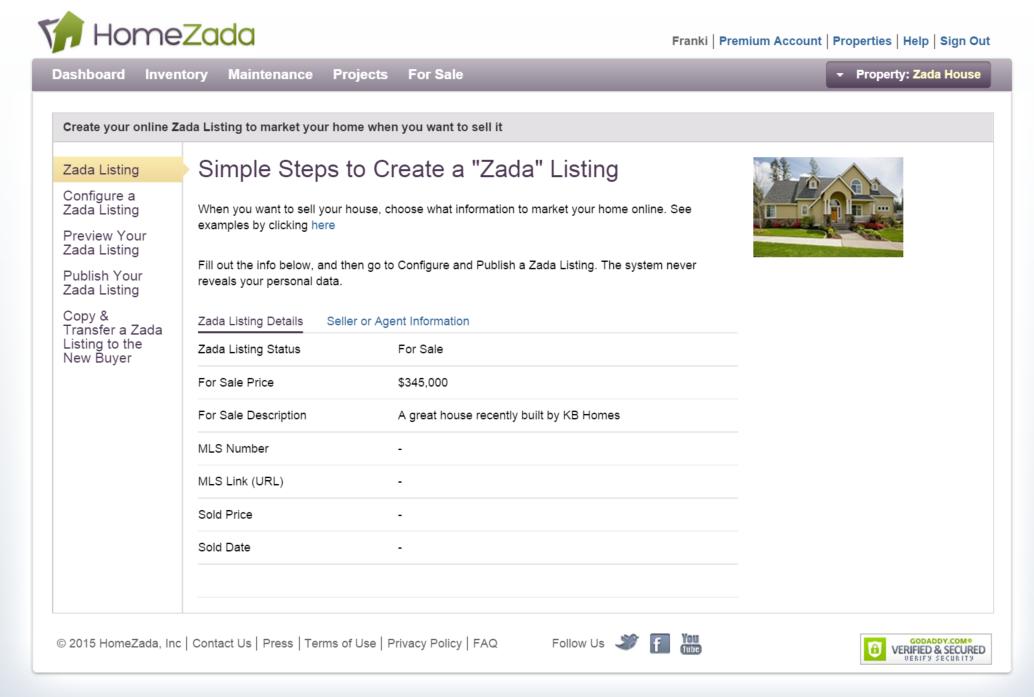 Zada Listing Wizard
