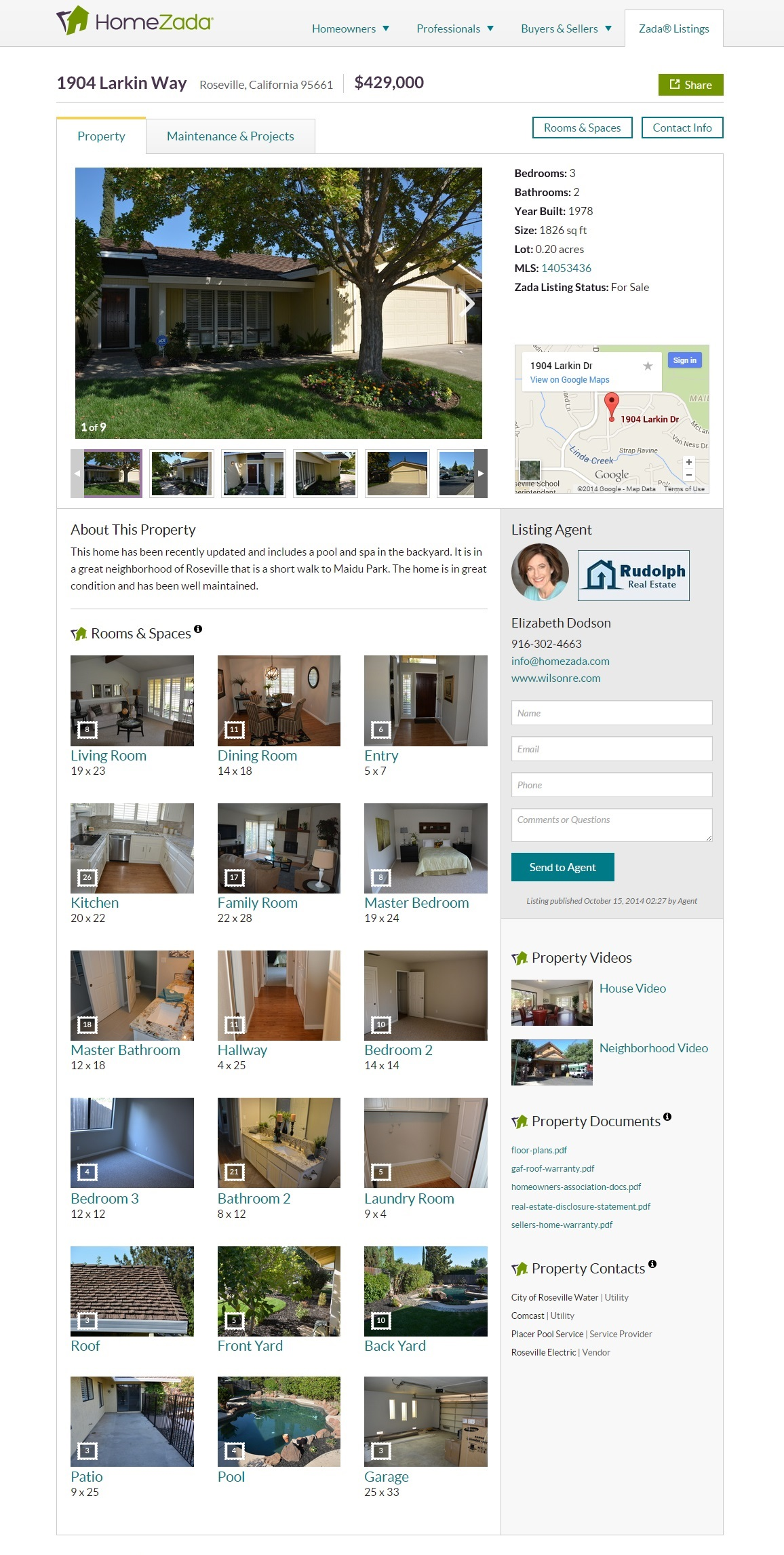 Zada Listing3 - room by room tour - videos - and documents of a home for sale