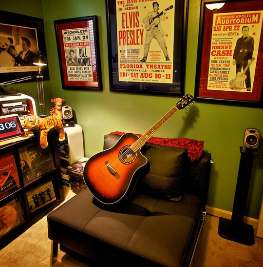 Man Cave Ideas Music : Elvis is in the house zen of zada