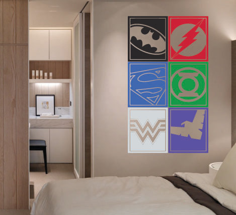 superheros decorating 18