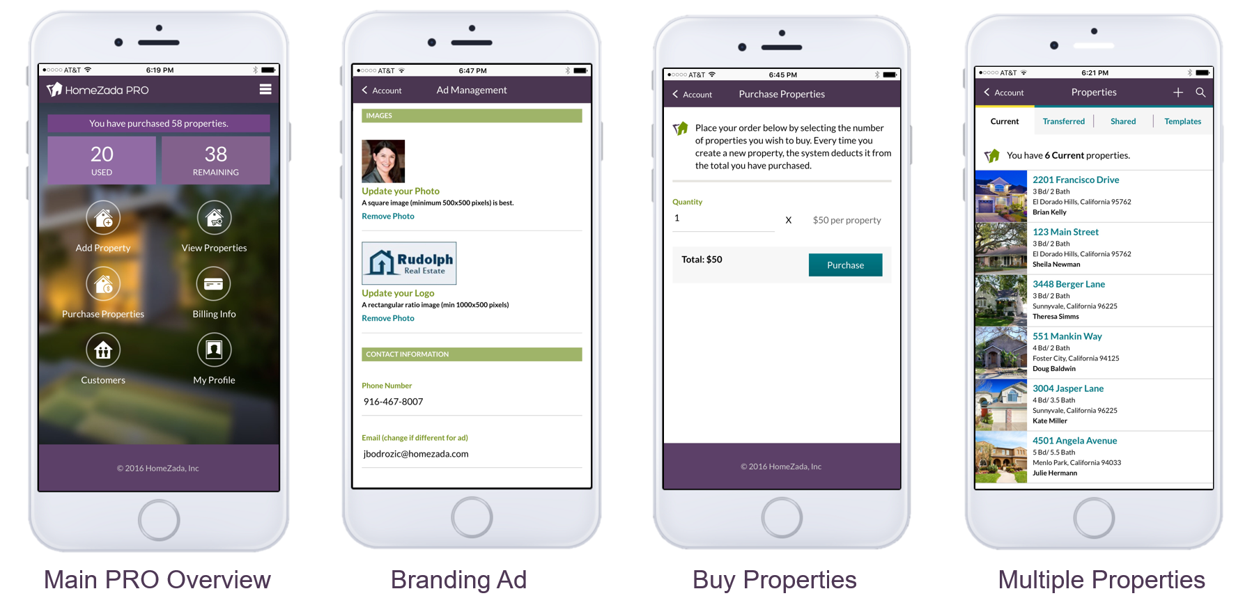 HomeZada Professional Mobile Screenshots