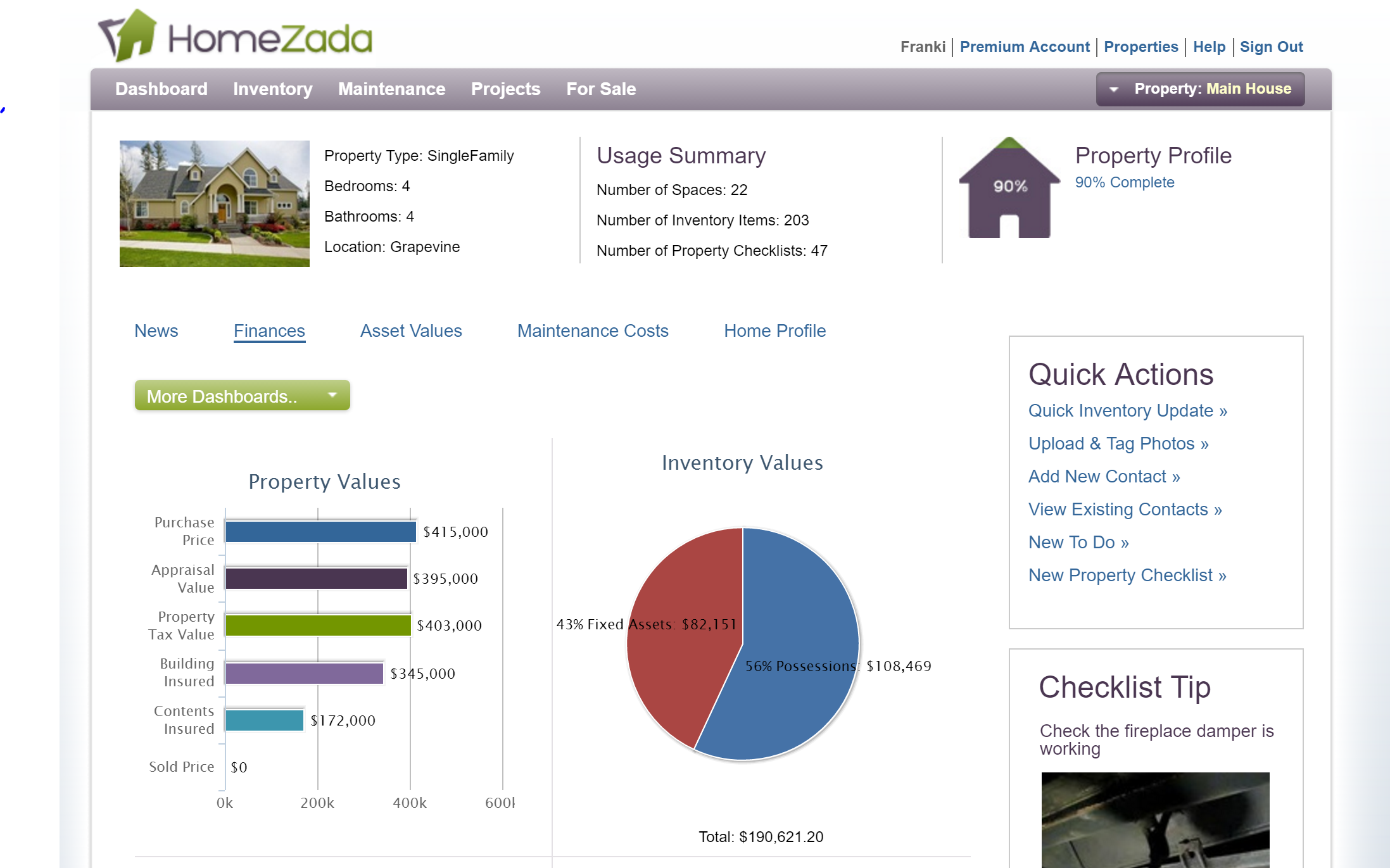 HomeZada Finances 4