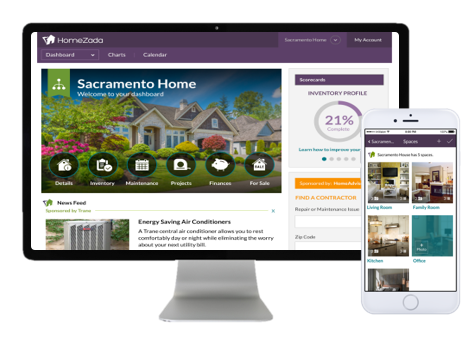 HomeZada New Interface Screenshot
