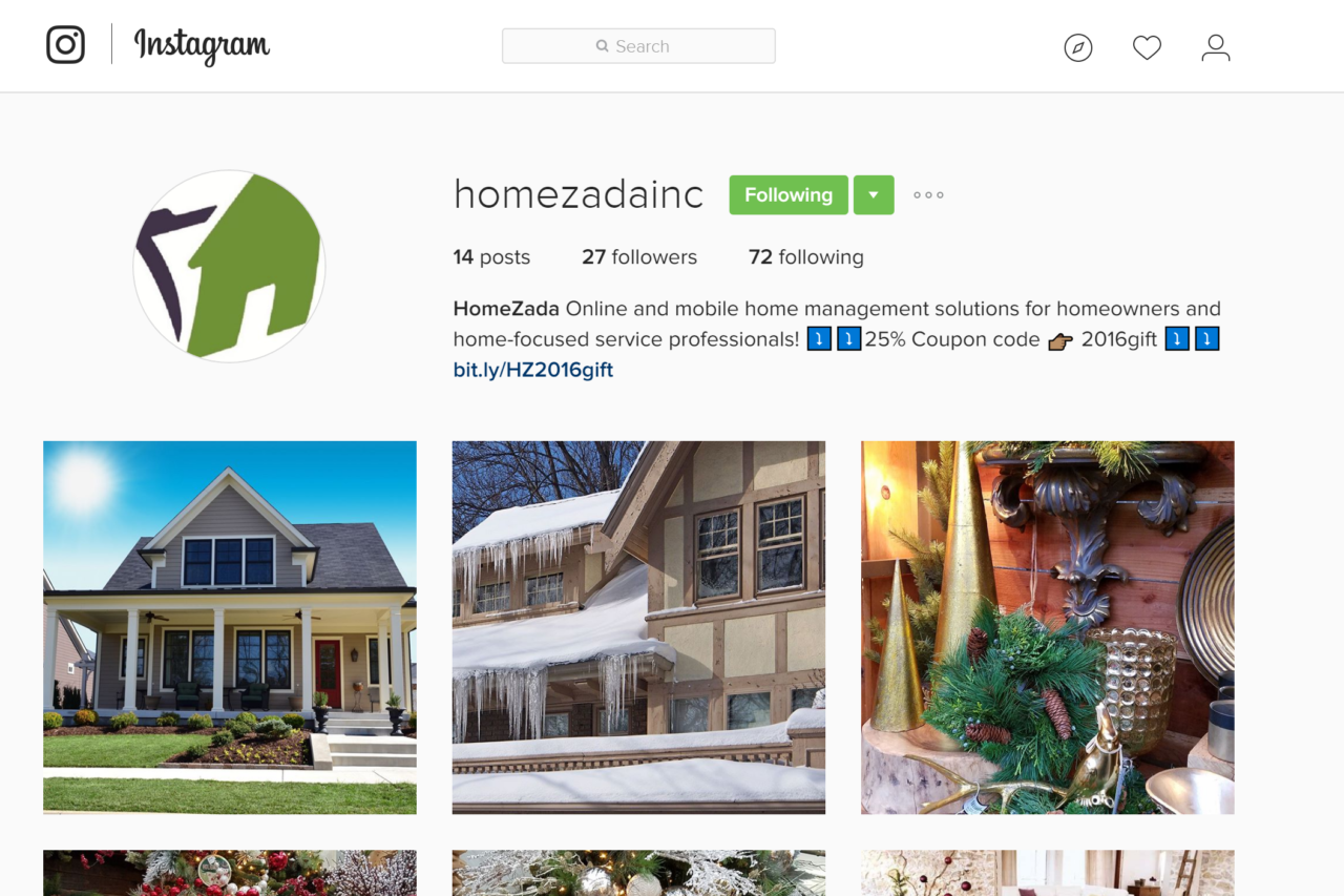 HomeZada on Instagram