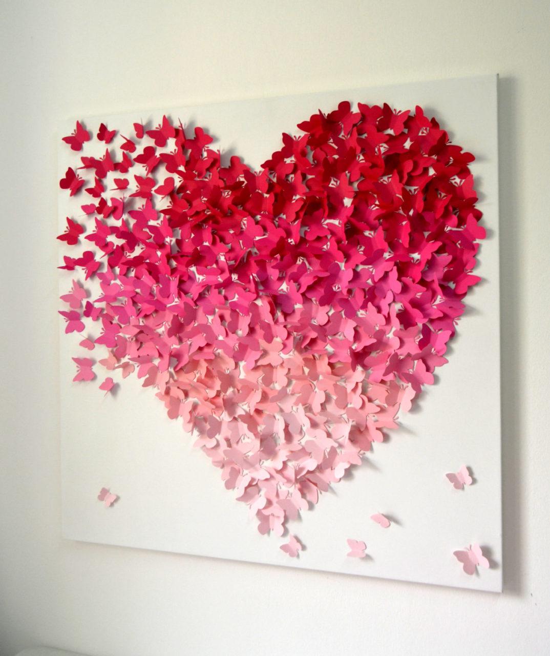 Своими руками сердце на стену 98