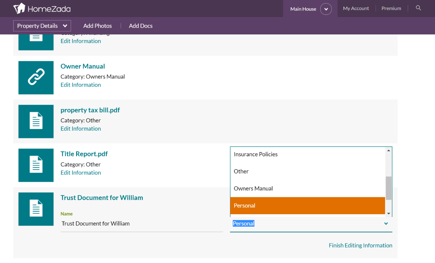 Document Search in HomeZada Just Got Better