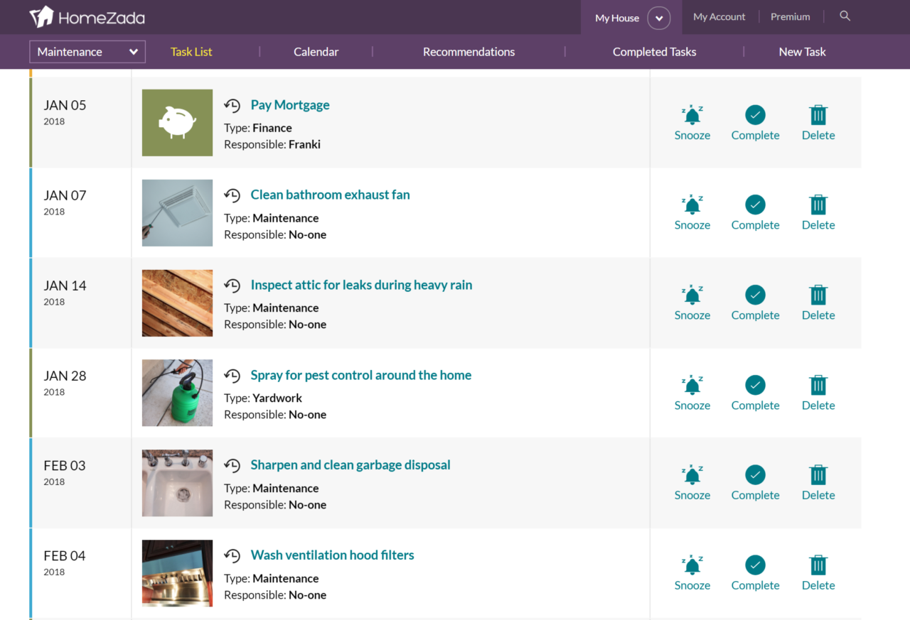 HomeZada Enhances Tasks